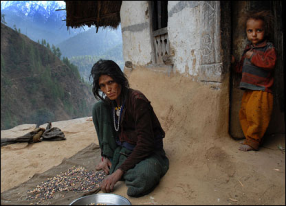 Extreme poverty is the reality of life facing many poor people in Nepal (source: http://news.bbc.co.uk/)
