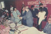 The  historical Hadyai Peace Accord signed on the 2 Dec 1989, Hadyai, Thailand -Signatory parties :Government of Malaysia,Thailand and Chin Peng , Communist Party Malaya -Source:http://matamin.blogspot.com/)