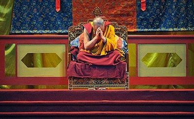 (source: http://www.phayul.com/news/article.aspx?id=25427&t=3&c=1) -Exiled Tibetan leader the Dalai Lama prays during a ceremony to comfort the victims of Typhoon Morakot, in the southern Taiwan city of Kaohsiung. China called off events planned with Taiwan, in apparent retaliation for the Dalai Lama's visit to the island, officials said Tuesday, as Tibet's spiritual leader led thousands in prayer.