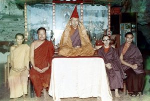 Early picture of Tulku Urgyen Rinpoche in the Ipoh Cave (source: http://blazing-splendor.blogspot.com/search?q=tulku+urgyen+at+ipoh)