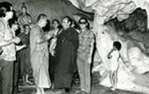 His Holiness 16th Gyalwa Karmapa visited the Kong Chee Name Cave Temple, Ipoh (Year 1976)