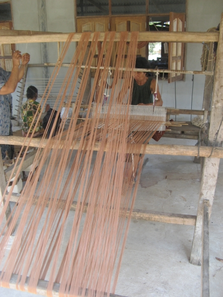 the use of natural color from mangosteen to dye the threads