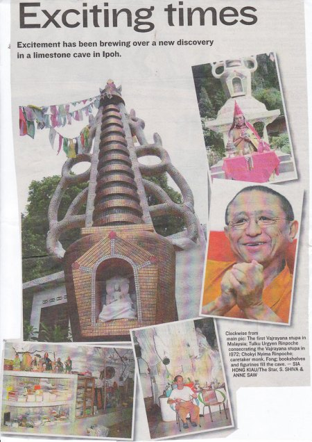 The Cave Temple and Stupa at Ipoh: Source: the Star- 24 april 2010
